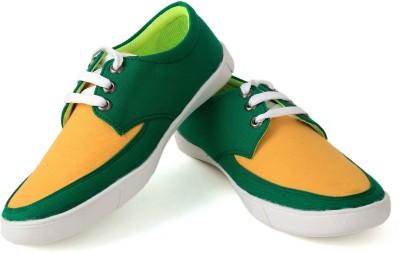 Felando 413-Green-4 Canvas Shoes