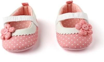 Pikaboo Peach Polka Prewalker Shoes (6-10 Months) Casual Shoe