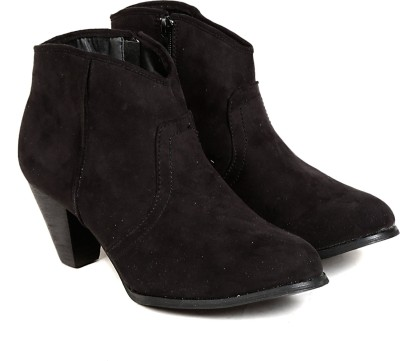 TEN TEN Womens Black Ankle Length Boots Boots
