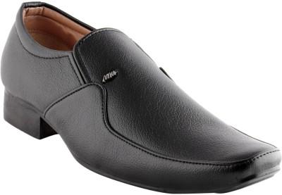 Smart wood 1701 Black Slip On Shoes