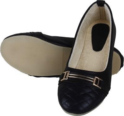 Walk Footwear L-222 Black Bellies Shoes for Women,s