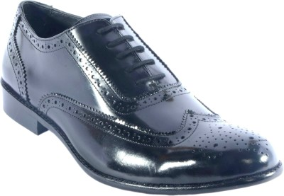 URBAN NATION British Luxurious Exotic Leather Brogue Shoe Lace Up