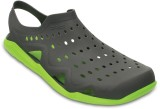 Crocs Swiftwater Wave Boat Shoes (Grey)