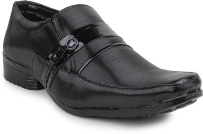11e Frml-3018-Black Slip On Shoes