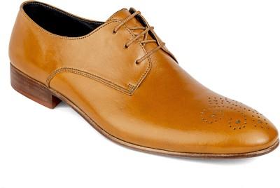 De Scalzo Tan Oxfords Lace Up Shoes