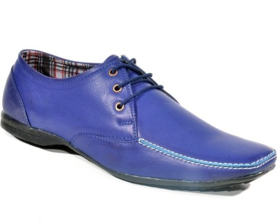 Big Wing Attractve Blue Lace Up Shoes
