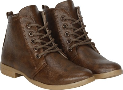 Kraasa Long Boots, Corporate Casuals, Outdoors, Party Wear(Brown)