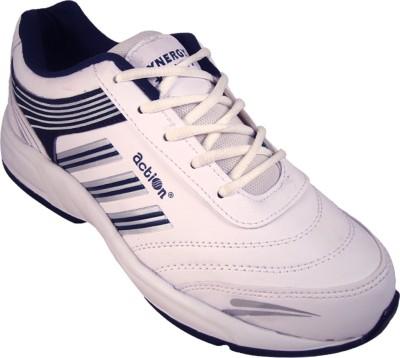 Action White Blue Sport running Shoe -7103 Walking Shoes
