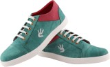 Greenfoot Leather Look Casuals (Green)
