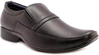 AVI Stylish Black Formal Slip On Shoes