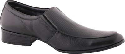 Claude Lorrain Men,s Black Leather Slip On