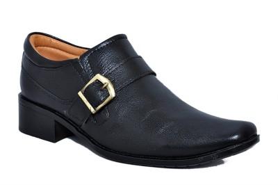Zoom Zoom Branded Men's Pure Leather Formal Shoes G-31-Black-6 Slip On