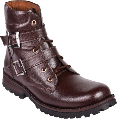 Comfolite Brown High Ankle Length Boots