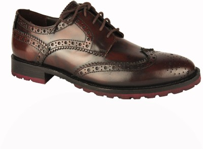 Salt N Pepper Rafael Brown Lace Up Casual Shoes