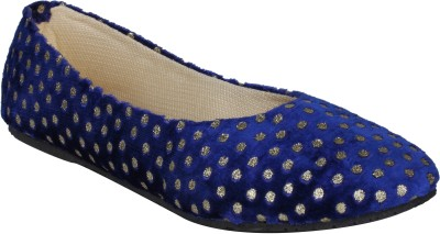 Stylistry Maxis Toni Blue & Golden Dots Women Closed Toe Bellies