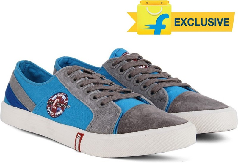 Lee Cooper Men Canvas SneakersBlue