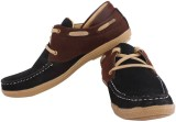 Footrest Casual Shoes (Brown, Red)