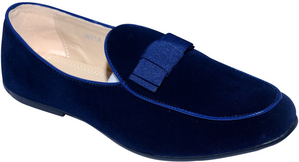 Alla Moda Ribbon Loafers(Navy)