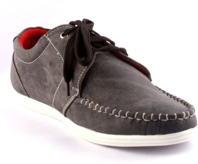 Zapatoz Grey Faded Derby Casual Shoes