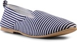 Shumael Blue Striped Canvas Shoes (Blue,...