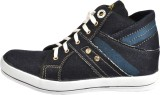 NY Eagle Blue Ankle Canvas Shoes (Blue)