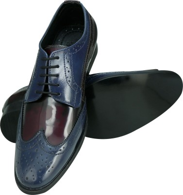 Entice BLUE CHERRY OXFORD Party Wear, Corporate Casuals