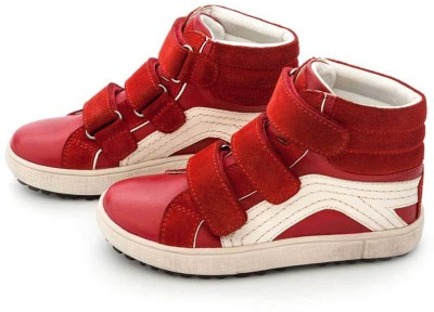 Drish Red High Top Boys, Sneakers Casual Shoes