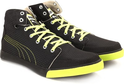 Puma Drongos DP black-lime punch-puma silver Men High Ankle Sneakers(Black)