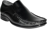 Leather Chief Slip On Shoes (Black)