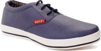 Levon London Levon Sanded Blue Sneakers
