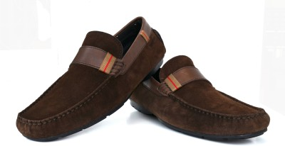 Language Casual Brown Suede Loafers
