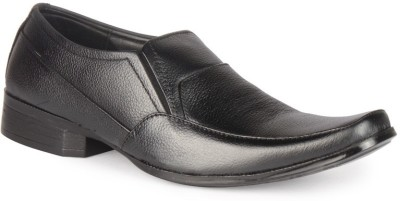 Leather King Smith Black Slip On