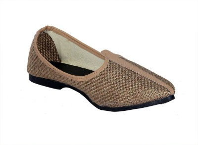 Panahi Brown Hcrafted Slip On Jutis Casuals, Party Wear