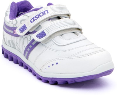 Asian Walking Shoes(White, Purple)
