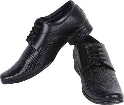 Earton Black-365 Lace Up Shoes
