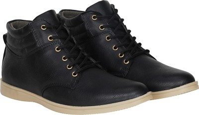 Kraasa Unbeatable Boots, Sneakers, Dancing Shoes, Outdoors(Black)