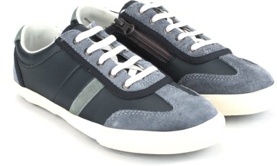 Clarks Alfie Fun Navy Leather Casual Shoes