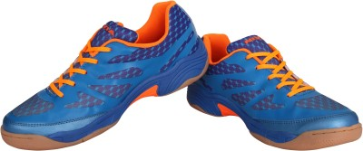 Nivia New Verdict Badminton Shoes(Blue, Orange)