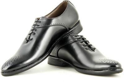 24 Casuals Super Black Lace Up Shoes
