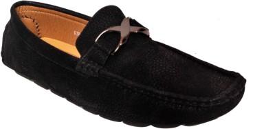 Strilex Black Stylish Loafers