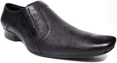 JK Port Wx0011 Formal Leather Slip On Shoes(Black) at flipkart