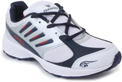 TOUCHWOOD Viber White/Navy Sports Running Shoes