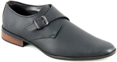 Faces By Devils Acalia Black Monk Strap Shoes