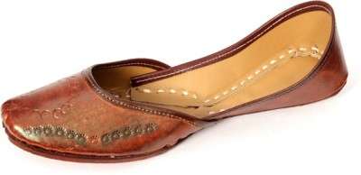 Rajsthali Footwear Leather Brown Jutis