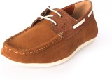 Cizmar Boat Shoes In Camel Brown Casual ...