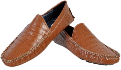 Stylords Croco Tan Loafers