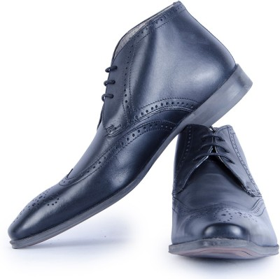 Burkley Black KelverHi Pure Leather Formal Shoes Party Wear