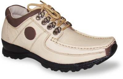 Sapatos Genuine Leather stylish Beige N Brown Outdoors Shoes