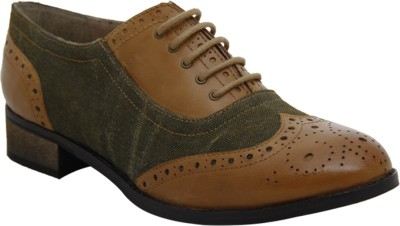 Hats Off Accessories Brogues Tan and Green Corporate Casuals