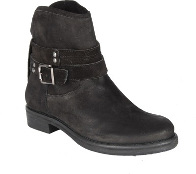 Salt N Pepper 14-648 Dorothea Black Suede Boots Boots